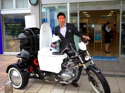 Toilet-motorcycle